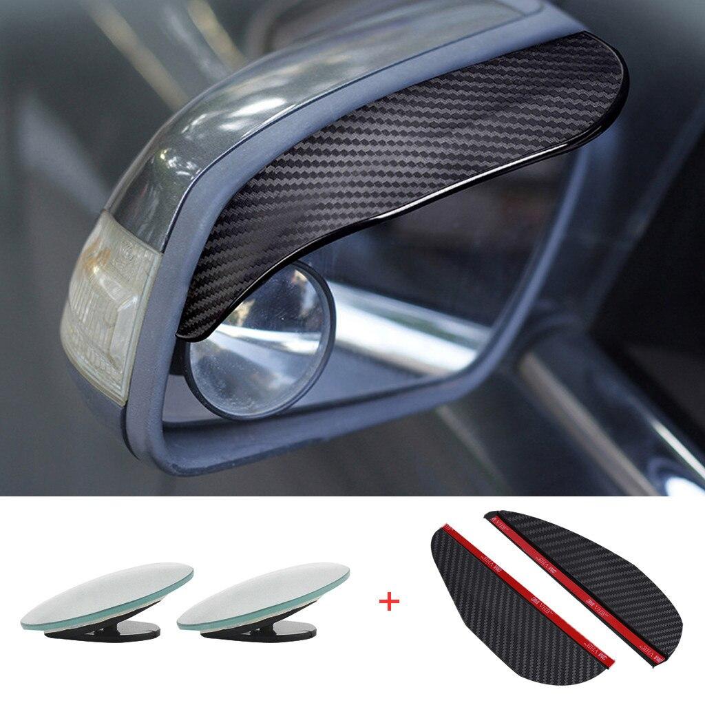 Universal Blind Spot Mirror For Car Eyebrow Rain Visor Guard Wide Angle Round Convex Rear View Mirror  High Quality