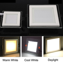3 Color Dimmable Square LED Ceiling Panel Lamp 6W 12W 18W Panel Light 6000K 4000K 3000K Recessed LED Lighting for Home Decor dc24v exquisite design 18w rgb full color led panel lighting 300x600mm dream gift for you room ceiling decorating 2pcs lot