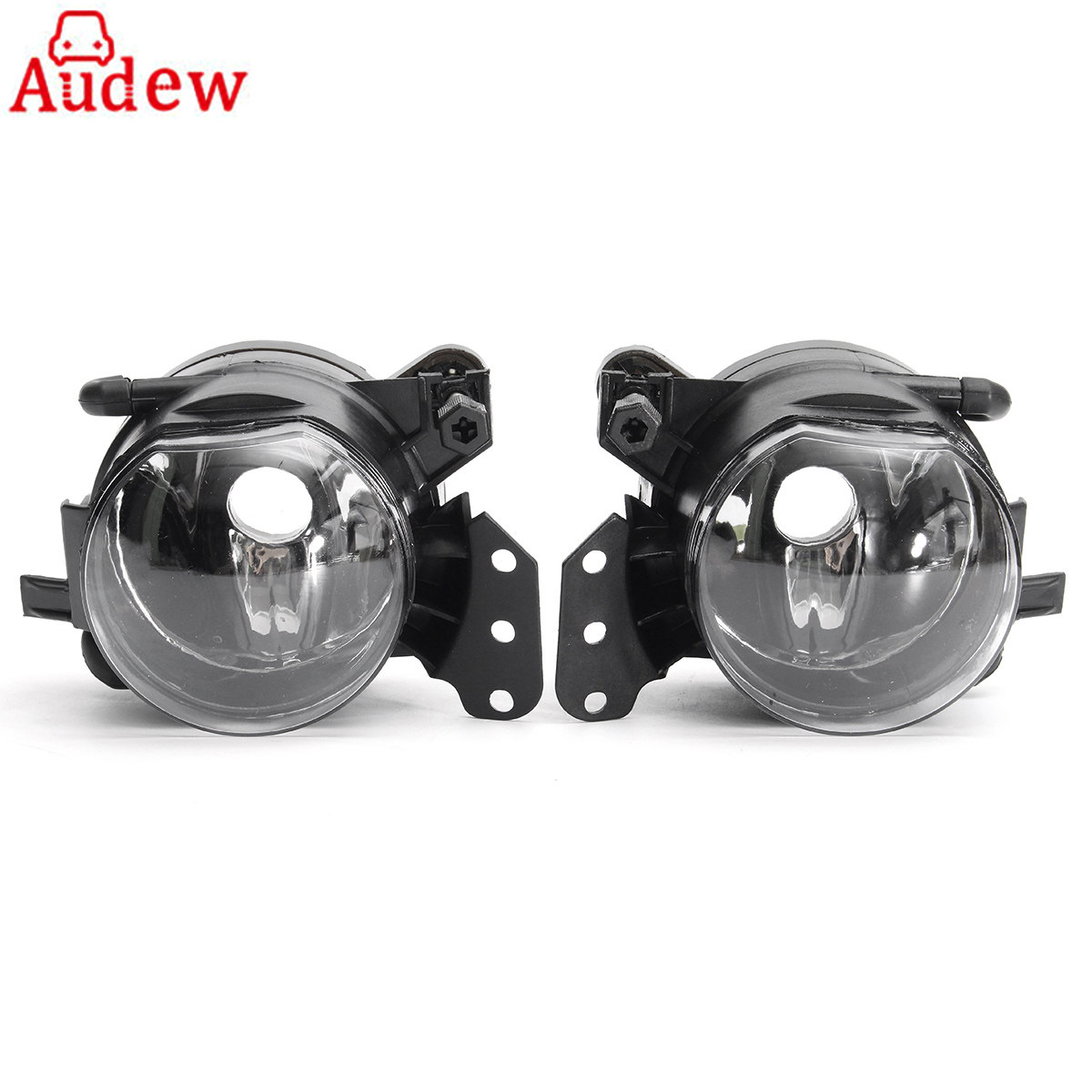 Pair Car Front Fog Lights Lamps Housing Lens Clear For BMW E60 E90 E63 E46 323i 325i 525i pair new high quality front fog lamp lights driving lamps clear lens car styling for bmw e39 5 series 2001 2003