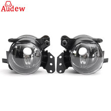 Pair Car Front Fog Lights Lamps Housing Lens Clear For BMW E60 E90 E63 E46 323i 325i 525i