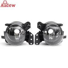 Pair Car Front Fog Lights Lamps Housing Lens Clear For BMW E60 E90 E63 E46 323i 325i 525i
