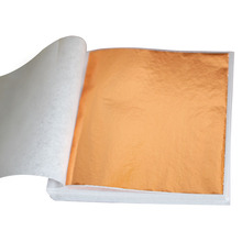 100PCS Taiwan Rose gold leaf, gilding color like rose free shipping