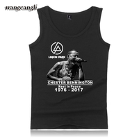 Lincoln LinKin Park Sleeveless Tank Top Men Summer Casual Popular Singers Tank Top Men Bodybuilding USA Great Rock Band Fans Ves