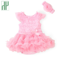 Newborn Baby Girl Clothes Princess Bow Lace Romper Clothing Set Jumpsuit Headband 2pcs Infant Rompers