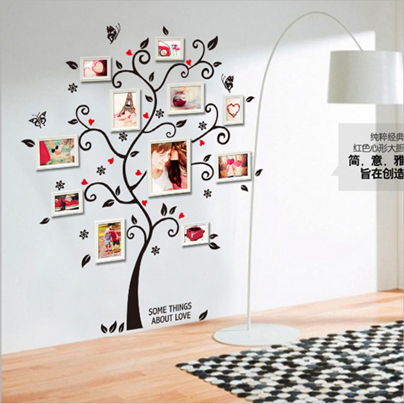 Aliexpress.com : Buy 2016 Hot New Design Photo Frame Vinyl 3D Wall Sticker  Home Decor 120*100 Self Adhesive Wall Decal Removable For Living Room From  ... Part 81