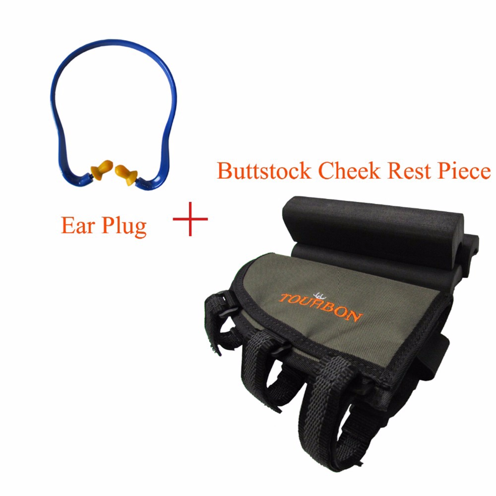 Tourbon Tactical Shooting Rifle Buttstock Pipi Piece Rest Silicone Earplugs Earplugs Hearing Ear Earphones Noise Protection Hunting Accessories