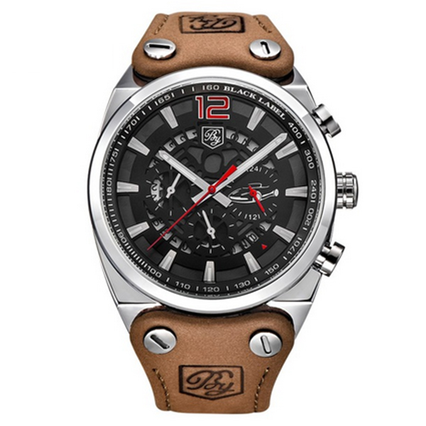 BENYAR Sport Men Watches Quartz Man Outdoor Big Dial Watch Male Clock Male silver red