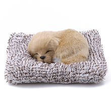 Мягкие игрушки, милая имитация Лабрадора/кукла «Хаски», плюшевые спящие собаки, игрушка для детей, детская игрушка