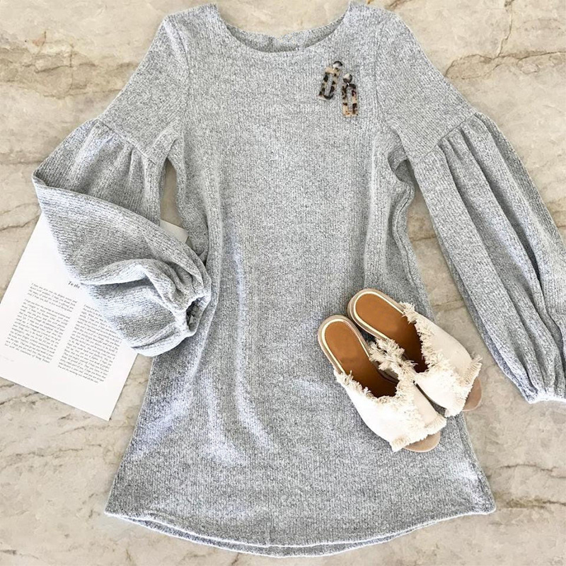2018 New Fashion Winter Dress Women Clothes Short Casual Knitted Dresses With Long Sleeve in Dresses from Women 39 s Clothing