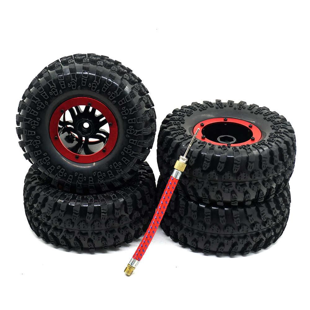 """1 zestaw RC Car 1:10 samochód rock clawler zdalnie sterowany koła samochodu 2.2 """"pneumatyczny opony i Beadlock koła obręcz do SCX10 AX10 RC części"""