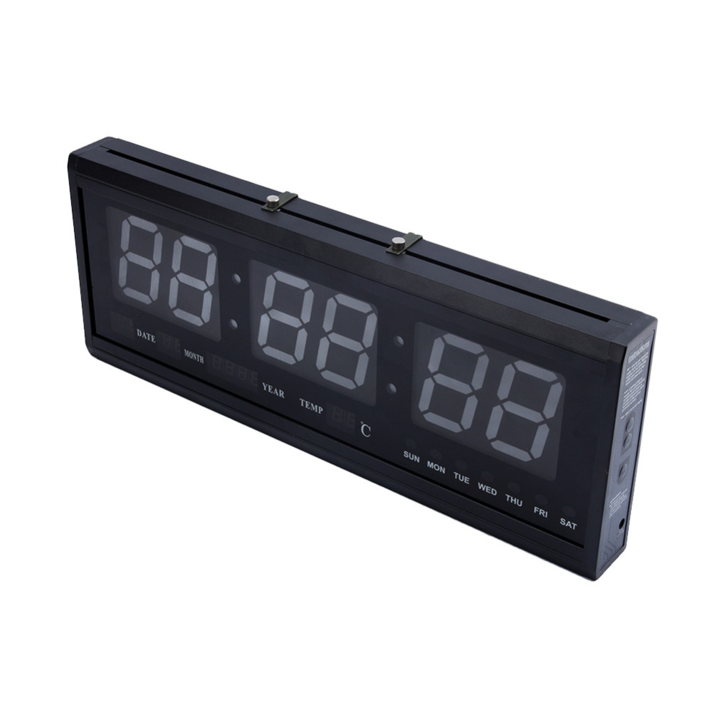 Aliexpress buy led wall clock large digital led wall clock aliexpress buy led wall clock large digital led wall clock alarm calendar table desk wall clock 48cm hot blueredgreen from reliable digital led wall amipublicfo Image collections