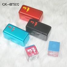 Korea Ballteck Billiards Blue Chalk / Pool cue Chalk  2 pcs/box with Quality Box- Silver/Gold/Blue/Red/Black(optional)