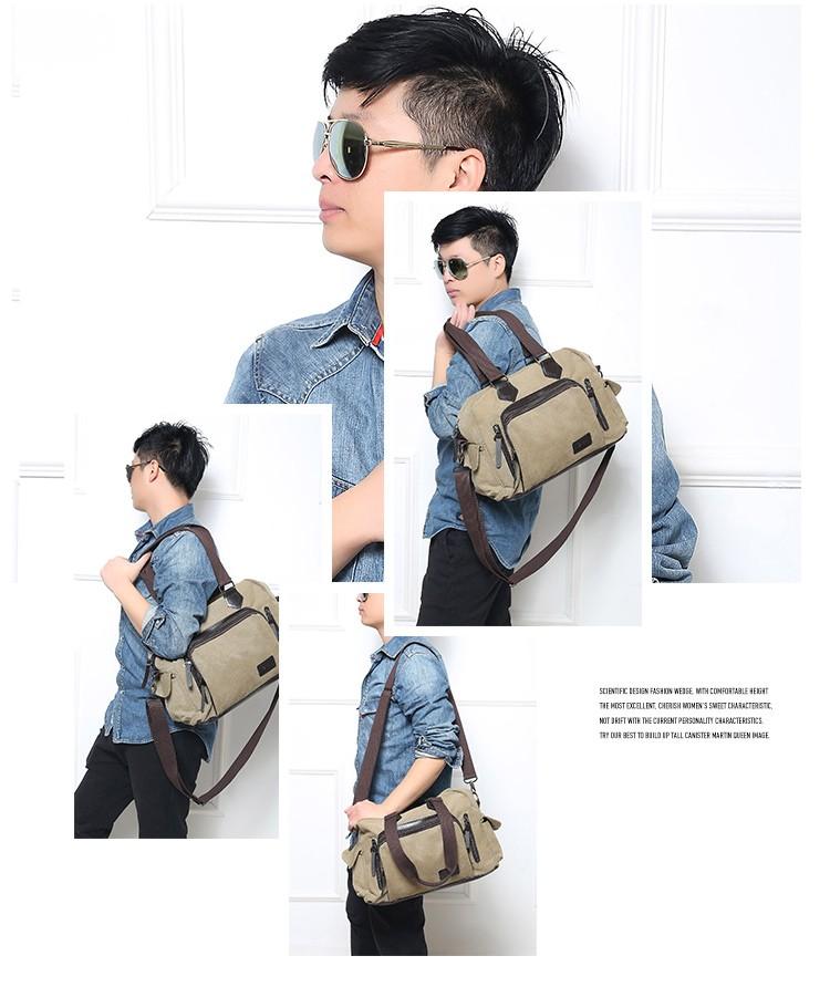 2016 men\'s travel bag canvas men messenger bag brand men\'s bag vintage style briefcase,Travel Shoulder bag (13)