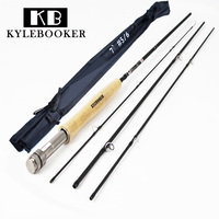 2 1M 4 Section Carbon Fly Fishing Rod Soft Cork Handle Fish Tackle Portable Travel Waders