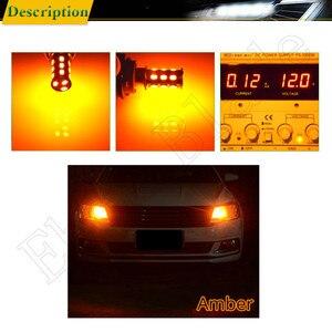 Image 5 - 10 Uds BAU15S luces LED de auto bombillas 5630 18SMD ámbar, anaranjado PY21W RY10W Coche Voiture Lampada bombilla de luz intermitente lámpara 12V