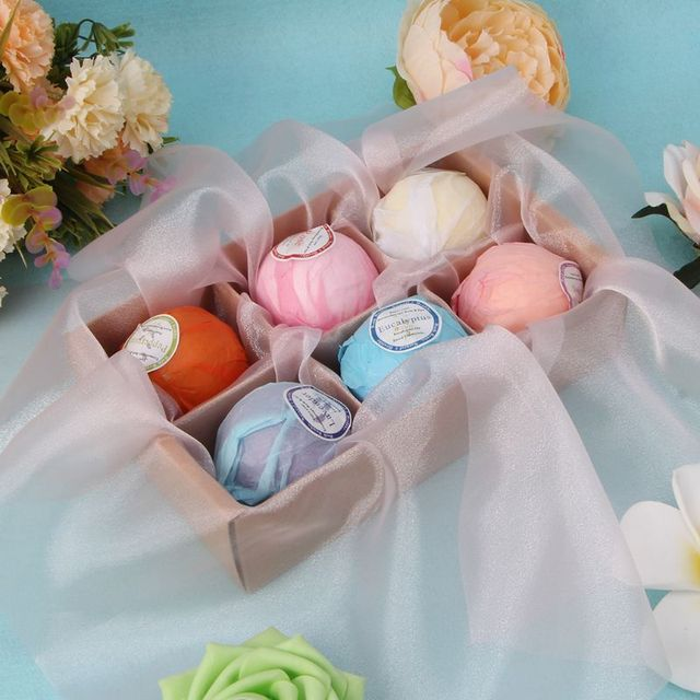 Organic Bath Bombs Bubble Bath Salts Essential Oil Handmade SPA Stress Relief