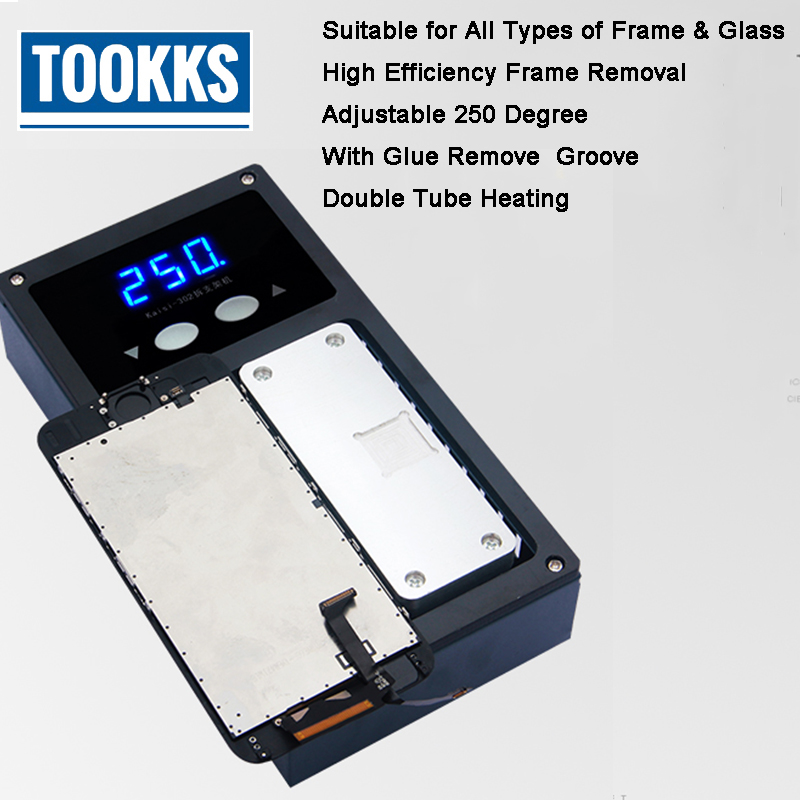 iPhone X Middle Frame Screen Bezel Dismantle Separate Machine Heating Plate for LCD Frame Separate Glue Remove machine laminating machine for iphone 4 4s 5 middle bezel frame pressing frame machine