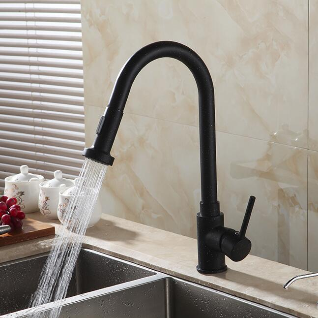 Aliexpresscom Buy Luxury Black Crane Pull Out Kitchen Faucet - Black faucet for kitchen