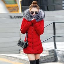 Winter Jacket Women Coats Artificial raccoon hair collar Female Parka