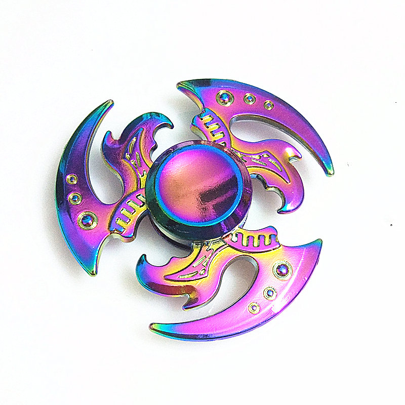 021 High Quality Fidget Spinner Metal Rainbow Dragon Hand Finger Spinners Autism ADHD Focus Anxiety Relief Stress