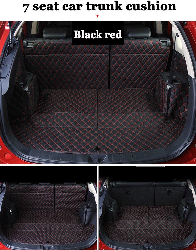 Tutti surround bagagliaio di un'auto zerbino per mitsubishi outlander 5 seats/7 seats anti-slip baule in pelle pad personalizzato pavimento zerbino stile dell'automobile 3d