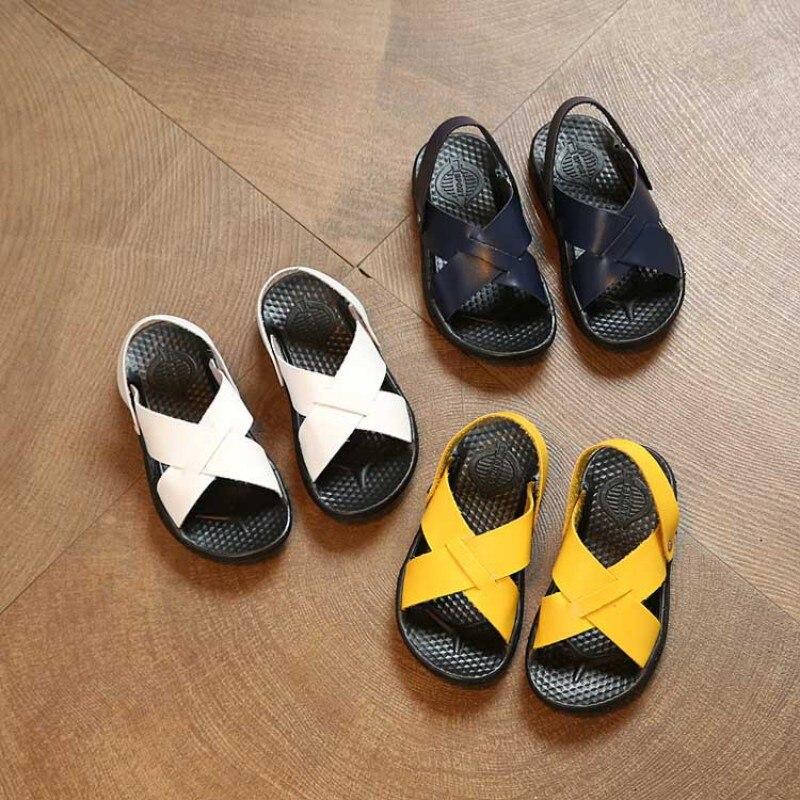 Fashion Baby Boy Sandals For Baby Boy PU Shoes Baby Shoes Fashion Beach Summer Sandals Baby Wear Boy Sandals