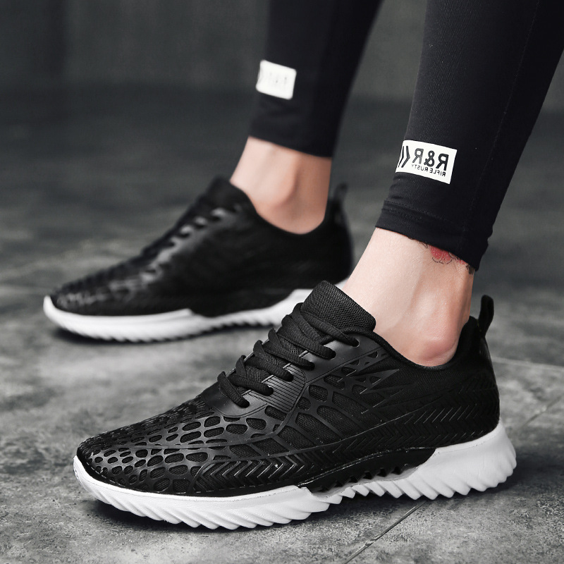 Men Women Sport Running Shoes Casual Lace-up Ultra Light Sneakers White Footwear Non-slip Outdoor Athletic Sneaker Jogging Shoes