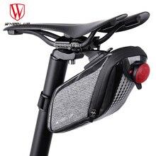WHEEL UP Rainproof Bicycle Bag Bike Saddle Bag Cycling Tail Rear Pouch Bicicleta Accessories Bisiklet Aksesuar Sacoche Velo