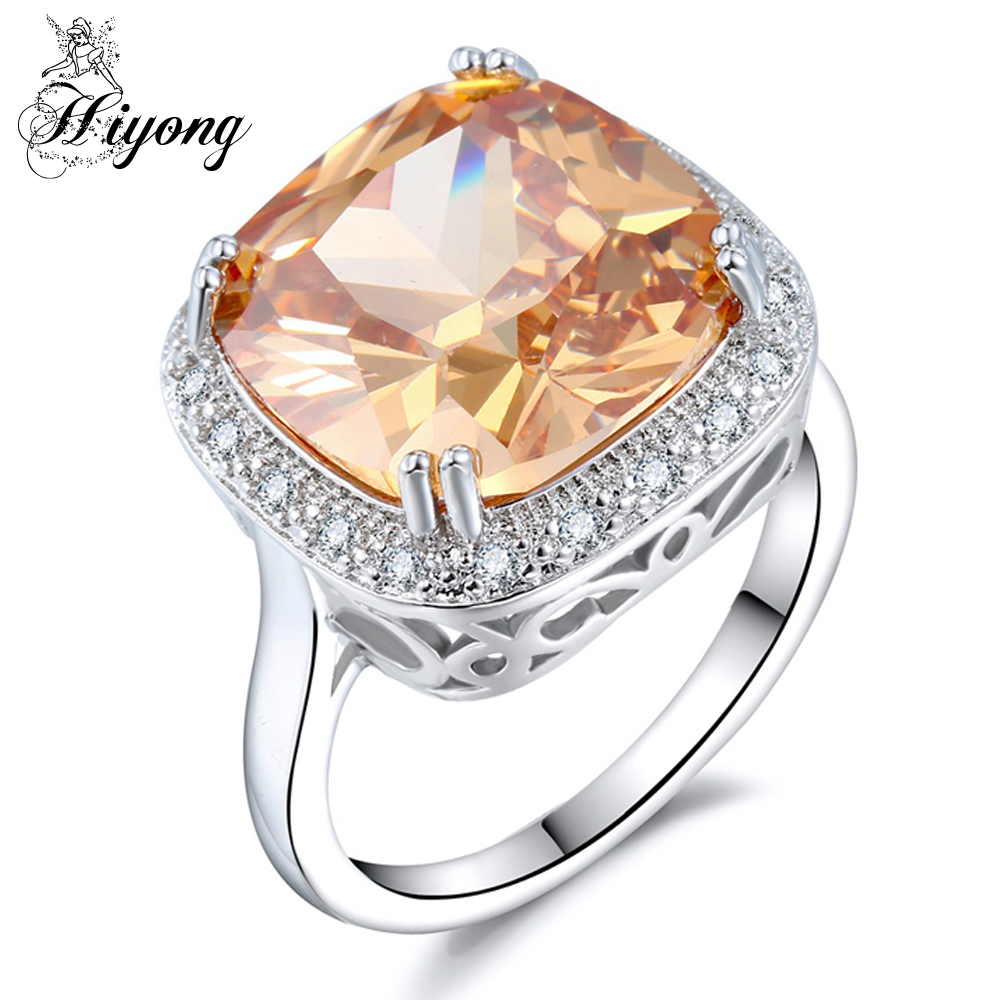 Rounded Square Gorgeous Ring Halloween Decoration Pumpkin Color Cz Skinny Band Bridal Wedding Accessory Women Dailywear Jewelry: Rounded Square Wedding Band At Reisefeber.org