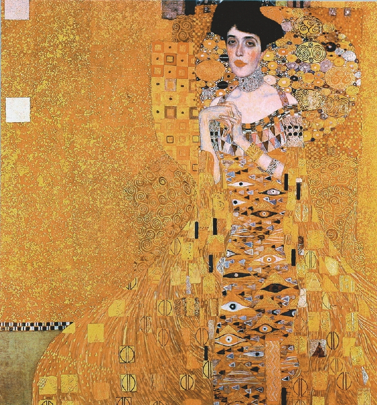 canvas prints famous picture beautiful oil painting gustav klimt lady portrait of adele bloch. Black Bedroom Furniture Sets. Home Design Ideas