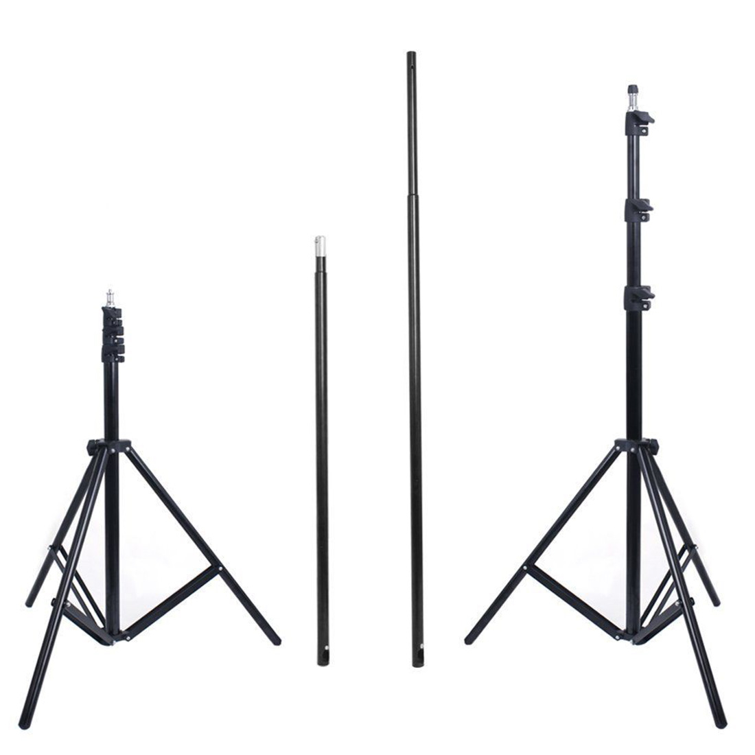 2.8m x 3m Photo Studio Background Backdrop Support Stand Kit + Free Carry Bag 2 8m x 3m pro adjustable background support stand photo backdrop crossbar kit photography stand 3 clips for photo studio