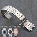 AOTU 26MM Watchbands 316L Steel Durable Watch Straps for Audemars Piguet Watch Man Royal Oak 15400 Silver Bracelets + Free TOOLS