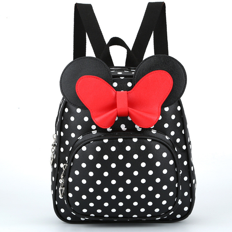 Toddler Backpack Baby-Bag School-Bag Kindergarten Mochila Kids Dot Escolar Bow Cute PU