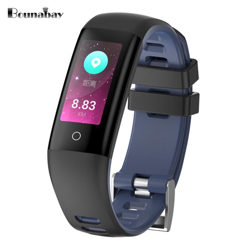 Bounabay inteligente multi-idioma Bluetooth reloj pulsera para mujeres Touch relojes Android IOS teléfono señoras señora impermeable