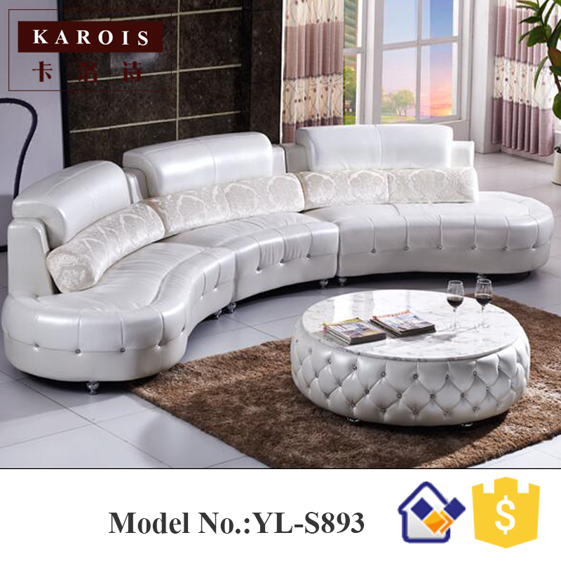 Black Diamond Inlaid Europe Big Lots Half Moon Leather Sectional Sofa Classic
