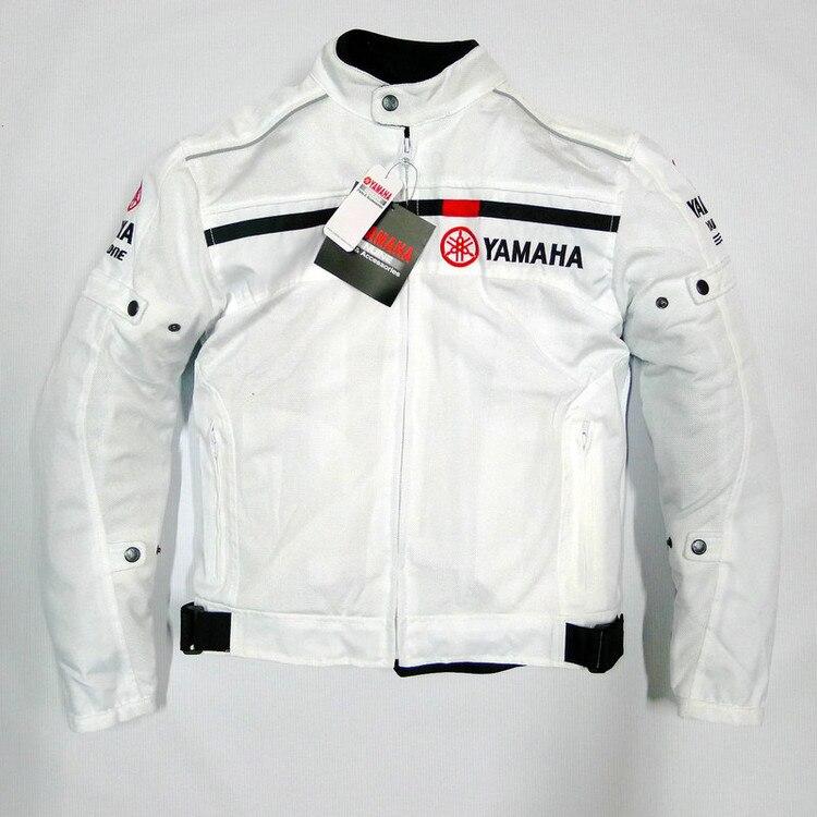 Été maille vêtements rue moto équitation décontracté veste pour yamaha retour bande réfléchissante conception noir/blanc vestes Chaqueta