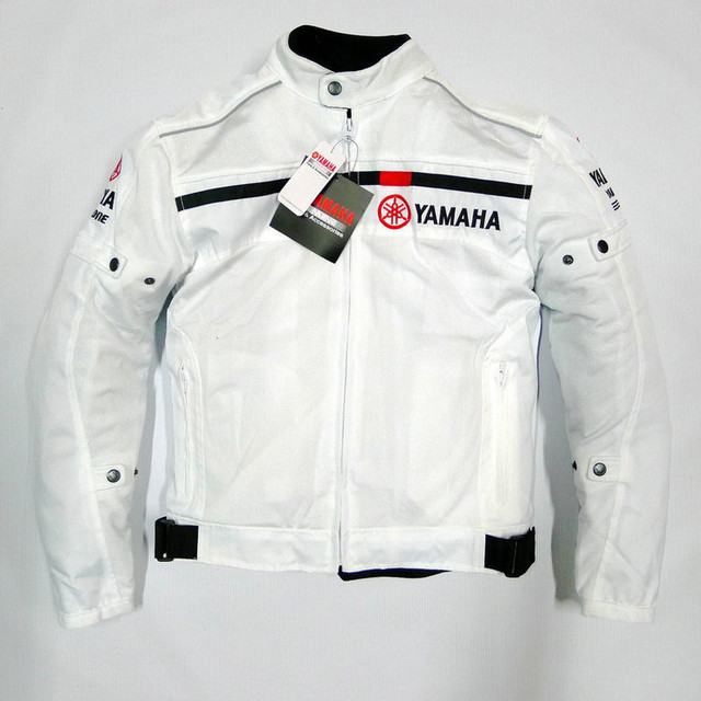 d13f5e2ad summer mesh clothing Street Motorcycle Riding Casual jacket For yamaha back  reflective strip design Black/White Jackets Chaqueta-in Jackets from ...
