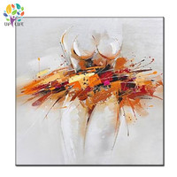 hand painted modern designed nude woman oil painting on canvas wihte orange naked girl art high quality wall painting decoration