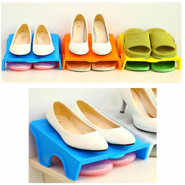 Zapato de moda moderna doble tres dimensiones almacenamiento ...