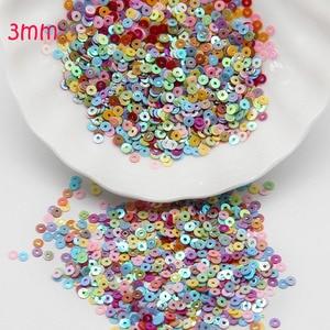 Круглые рассыпчатые Блестки 3 мм, 4 мм, 5 мм, 6 мм, украшения для шитья одежды, аксессуары для рукоделия, товары для шитья