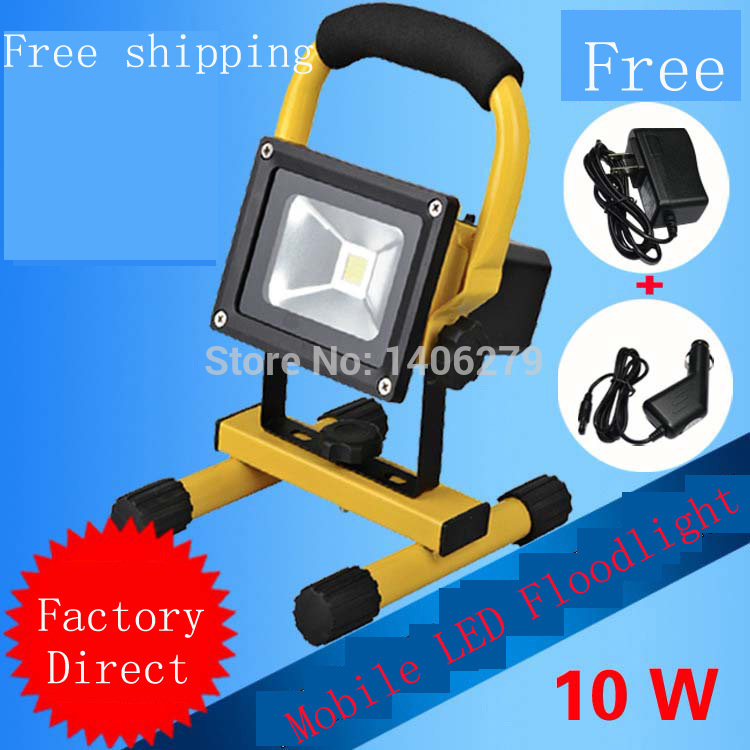 10w LED Portable floodlight LED Rechargeable floodlight LED Outdoor Emergency LED Spotlight motion sensor projector