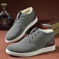 Winter Men Casual Shoes Cotton-padded Fashion Lace Up Breathable Flat Solid Shoes For Male c12 15