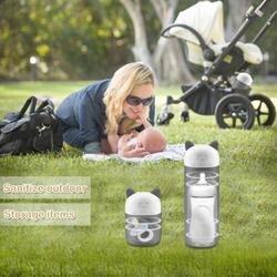 Alimentazione del bambino Disinfezione Del Fumetto Del Gattino UV Ozono Sterilizzatore Gancio Portatile Multi-funzionale per Esterni di Viaggio Disinfettante Per Le Mani Per La Bottiglia