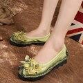 2016 de primavera y otoño nuevos zapatos de las mujeres, zapatos de moda de cuero de la madre, de mediana edad de gran tamaño cómodo zapatos planos ocasionales