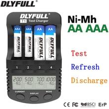 Smart charger aa battery chargers for aa batteries AAA Intelligent LCD NiMh NiCd 1.2V Universal carregador de bateria usb EU 4