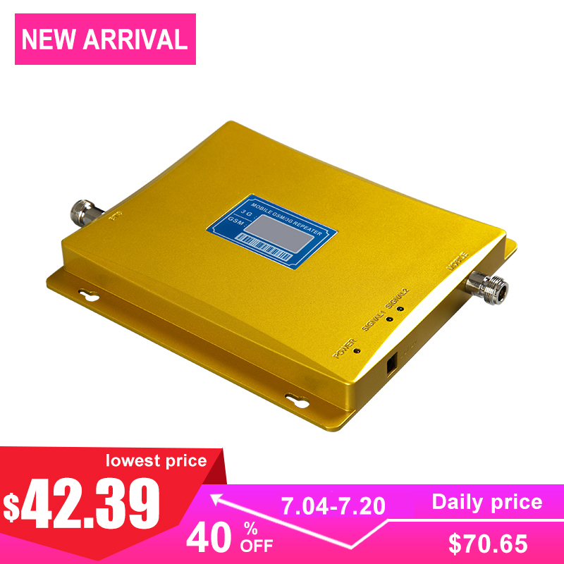 Cellular Signal Booster 2g Gsm 900mhz Wcdma 3g 2100mhz Dual Band Gsm Signal Amplifier For Cell Phone Internet Communication -