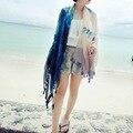2016 лоскутное пашмины лето украл шарф женщин пряжи мыс шифон платки voile шаль женский палантин дамы wrap Скидка