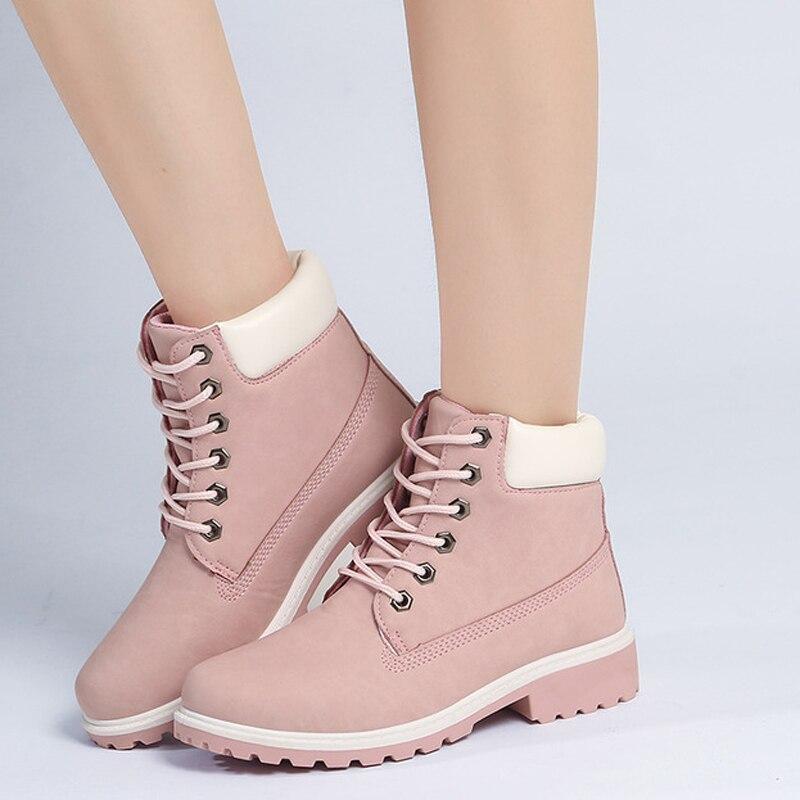 New 2018 autumn winter women ankle boots platform leather martin boots non-slip women winter shoes warm snow boots women boots 2017 new arrivals warm plush winter shoes women genuine leather ankle boots non slip snow boots
