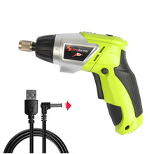 PROSTORMER 3.6V Cordless Electric Screwdriver Multifunction USB Charger Electric drill Lithium battery Rechargeable Power tools(China)