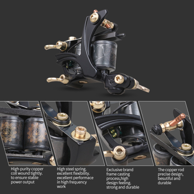 Cheap Beginner Tattoo Kit High Cost-performance 1 Tattoo Machine Gun 4 Tattoo Inks Tattoo Supply